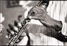 Makanda Ken McIntyre plays the oboe