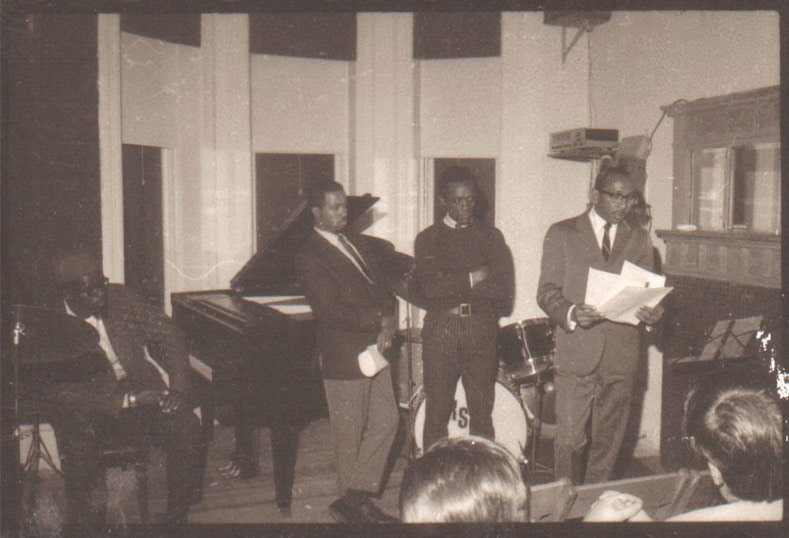 Makanda Ken McIntyre, Marion Brown, and others teaching at the Jazz Interaction Workshop for Young Musicians, NYC, circa 1967, photo by Raymond Ross