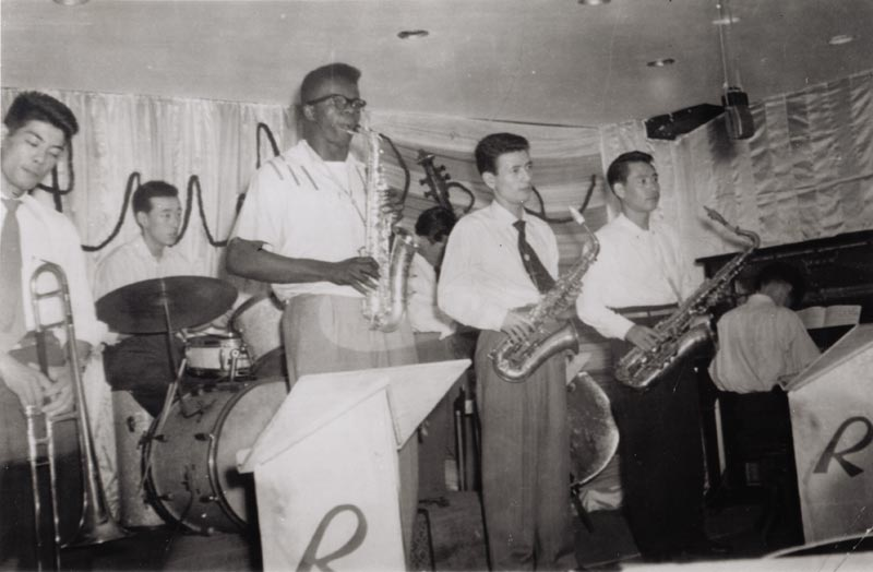Makanda Ken McIntyre in Japan playing with local musicians during his time in the Army, circa 1953-4