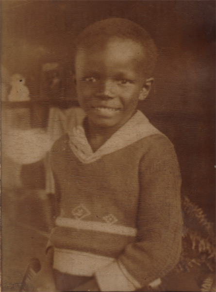 Makanda Ken McIntyre as a child, Boston