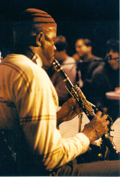 Makanda Ken McIntyre playing the clarinet with Charlie Haden's Liberation Music Orchestra, circa 1989