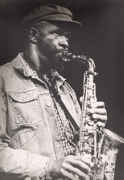 Makanda playing the alto saxophone, Paris, 1979